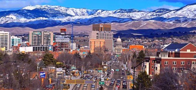 Город Бойсе в штате Айдахо