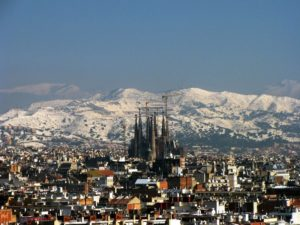 Барселона зимой