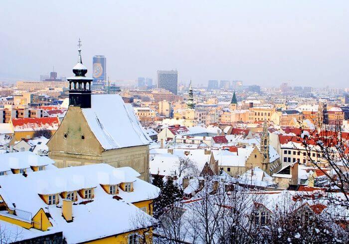 Братислава зимой