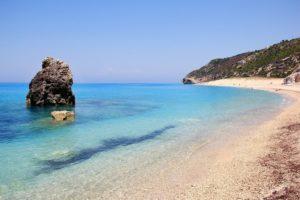 Пляж Милос на острове Лефкада
